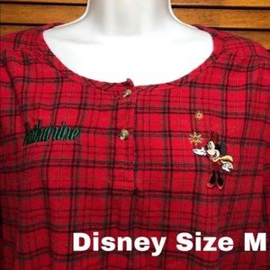 Disney Minnie Mouse Holiday Nightgown M
